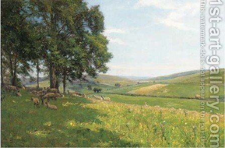 Across the valley by Edmund Morison Wimperis - Reproduction Oil Painting