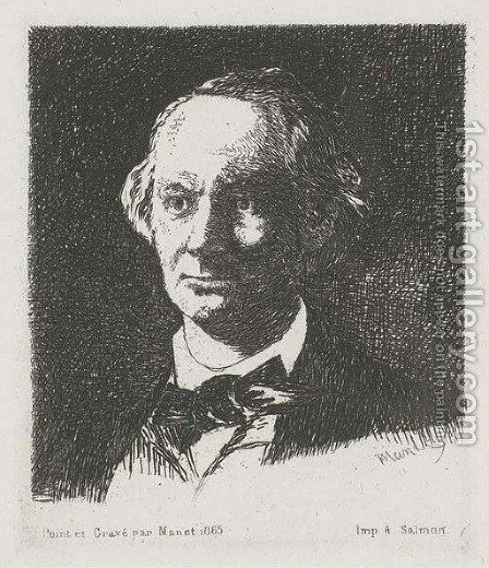 Charles Baudelaire, de face by Edouard Manet - Reproduction Oil Painting