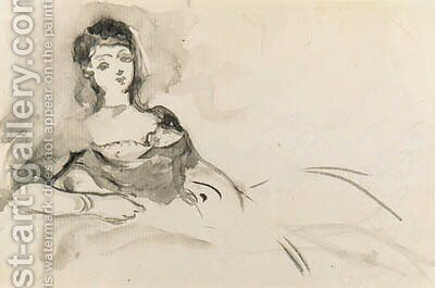 Femme tendue by Edouard Manet - Reproduction Oil Painting