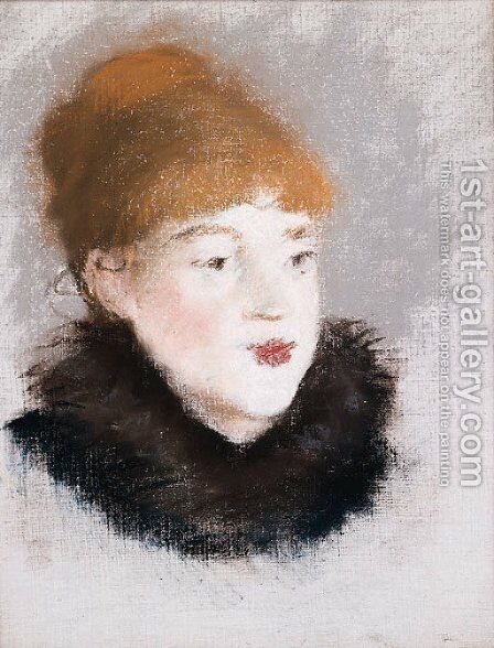 Tte de femme by Edouard Manet - Reproduction Oil Painting