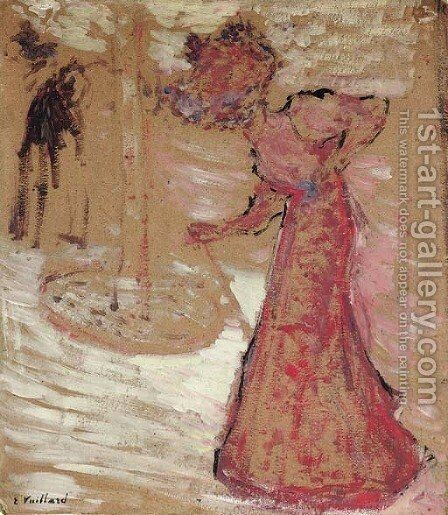 L'elegante by Edouard  (Jean-Edouard) Vuillard - Reproduction Oil Painting