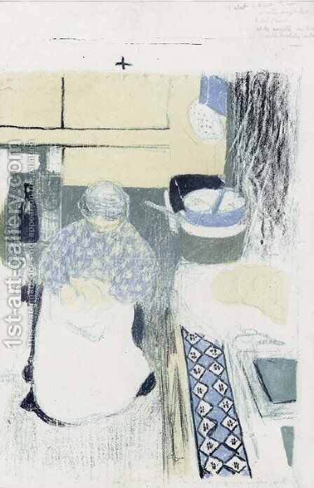 La Cuisiniere, from Paysages et Interieurs by Edouard  (Jean-Edouard) Vuillard - Reproduction Oil Painting