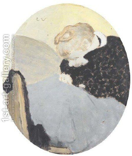 La ravaudeuse by Edouard  (Jean-Edouard) Vuillard - Reproduction Oil Painting