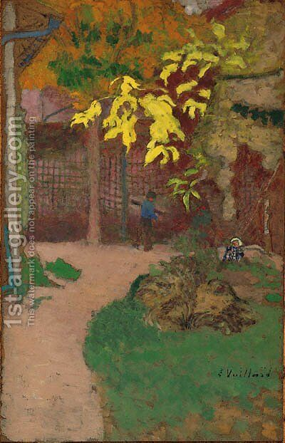 Le jardin by Edouard  (Jean-Edouard) Vuillard - Reproduction Oil Painting
