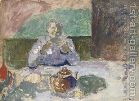 Le petit dejeuner 2 by Edouard  (Jean-Edouard) Vuillard - Reproduction Oil Painting
