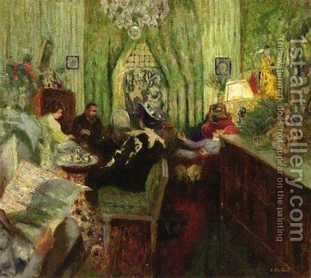 Le salon de Madame Aron by Edouard  (Jean-Edouard) Vuillard - Reproduction Oil Painting