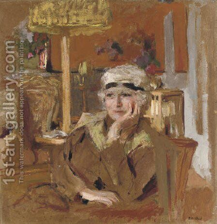 Lucy Hessel au ruban de velours noir by Edouard  (Jean-Edouard) Vuillard - Reproduction Oil Painting