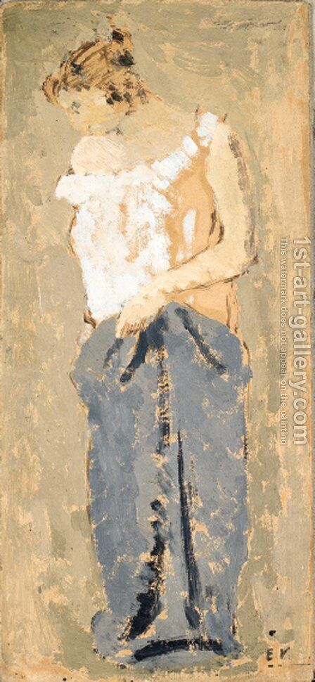 Mere et enfant by Edouard  (Jean-Edouard) Vuillard - Reproduction Oil Painting