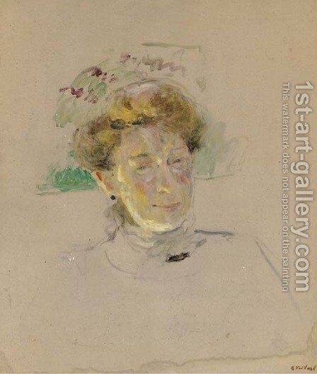 Portrait de Madame Alexandre Natanson by Edouard  (Jean-Edouard) Vuillard - Reproduction Oil Painting