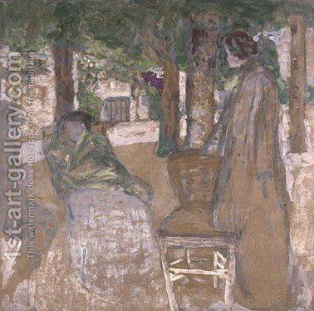 Sous les ombrages by Edouard  (Jean-Edouard) Vuillard - Reproduction Oil Painting