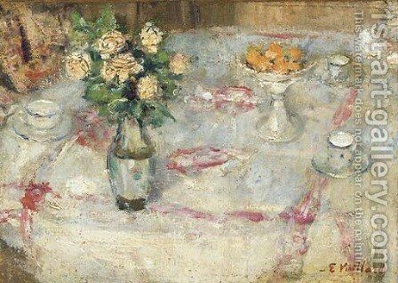 Table dressee by Edouard  (Jean-Edouard) Vuillard - Reproduction Oil Painting