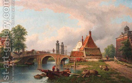 Het Rechthuys in Watergraafsmeer, Amsterdam 2 by Eduard Alexander Hilverdink - Reproduction Oil Painting