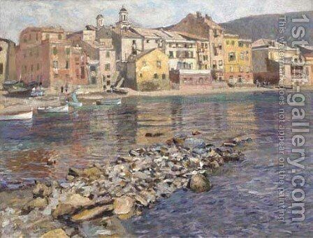 Sestri Levante, Italy by Eduard Ameseder - Reproduction Oil Painting