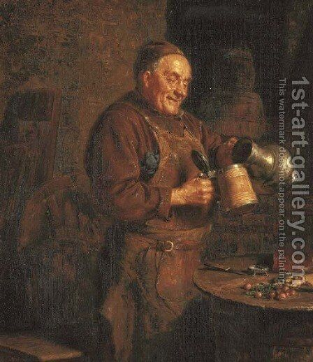 The Evening Meal by Eduard Von Gruttzner - Reproduction Oil Painting