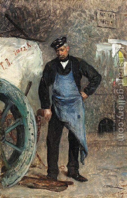 The workman by Eduardo Zamacois y Zabala - Reproduction Oil Painting