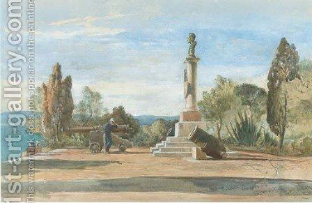 Public gardens, Gibraltar by Edward Alfred Angelo Goodall - Reproduction Oil Painting