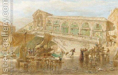 The Rialto bridge, Venice by Edward Alfred Angelo Goodall - Reproduction Oil Painting