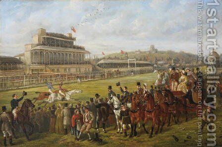 A Day at the Races by Edward Benjamin Herberte - Reproduction Oil Painting