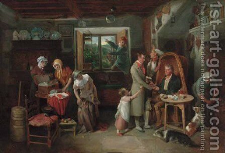 The departure to London by Edward Bird - Reproduction Oil Painting