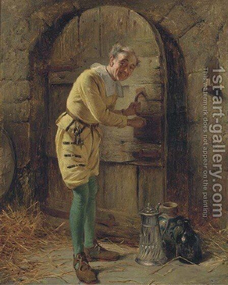 The inn keeper by Edward Charles Barnes - Reproduction Oil Painting
