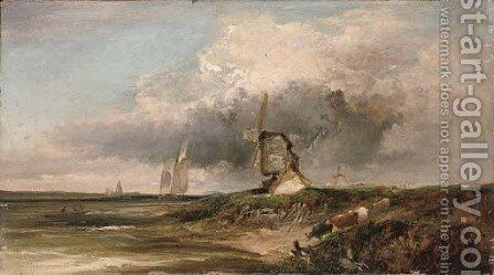 Old Mills on the Thames by Edward Charles Williams - Reproduction Oil Painting