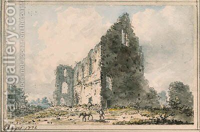 Newark Priory, Ripley, Surrey by Edward Dayes - Reproduction Oil Painting