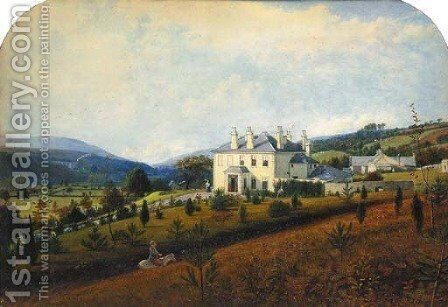 A View of, and from Captn Frederick's House at Portmneath Vaughan, near Glin neath, Vale of Neath by Edward Facon Watson - Reproduction Oil Painting