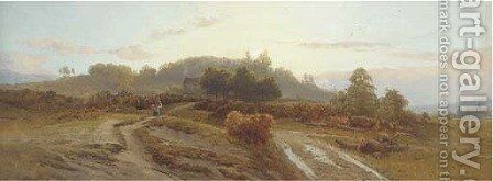 The first gleam, early morning on Reigate Heath by Edward Henry Holder - Reproduction Oil Painting