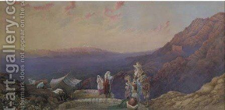 Mount Hermon from Lebanon by Edward Hodges Cree - Reproduction Oil Painting