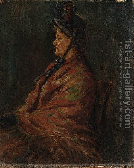 Mrs. Nancy Evans by Edward Lamson Henry - Reproduction Oil Painting