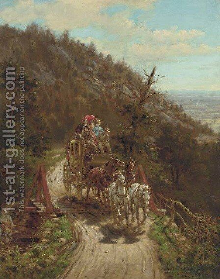 The Stagecoach by Edward Lamson Henry - Reproduction Oil Painting