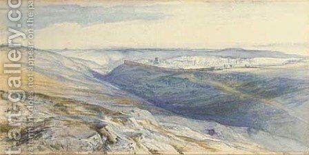 A view of Jerusalem by Edward Lear - Reproduction Oil Painting
