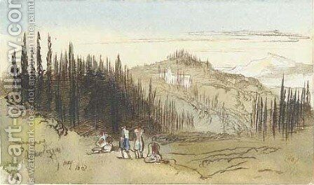 Arkodyllus, Corfu by Edward Lear - Reproduction Oil Painting