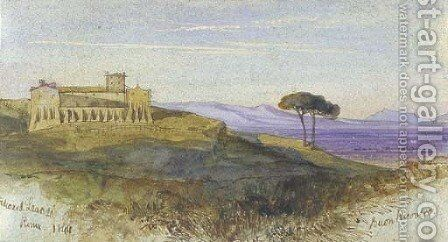 Buon Ricovero, Rome by Edward Lear - Reproduction Oil Painting