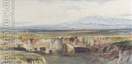Cervera, on the Roman Campagna by Edward Lear - Reproduction Oil Painting