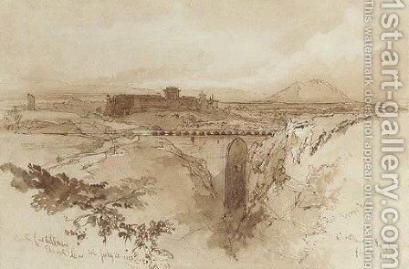 Civita Castellana 3 by Edward Lear - Reproduction Oil Painting