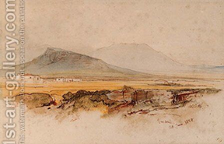 Eretria, Euboea, Greece by Edward Lear - Reproduction Oil Painting