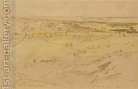 Jerusalem 3 by Edward Lear - Reproduction Oil Painting