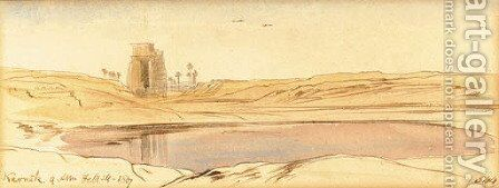 Karnak - Upper Egypt by Edward Lear - Reproduction Oil Painting