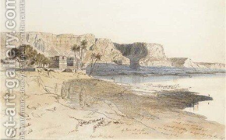 Kasr-es-Said, Egypt by Edward Lear - Reproduction Oil Painting