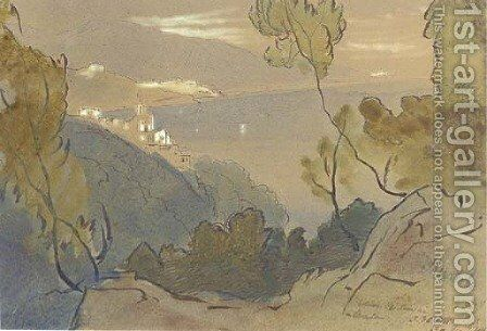 La Mortola, Italy by Edward Lear - Reproduction Oil Painting