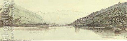 Lago d'Orta, Italy by Edward Lear - Reproduction Oil Painting