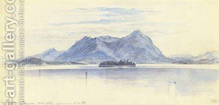 Lago Maggiore, Italy by Edward Lear - Reproduction Oil Painting