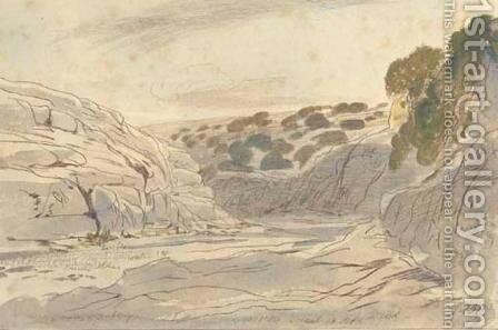 Lonely valley of Zebbug, Malta by Edward Lear - Reproduction Oil Painting