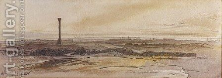 Looking towards Alexandria, Egypt by Edward Lear - Reproduction Oil Painting