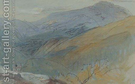 Palaiukhora, Crete by Edward Lear - Reproduction Oil Painting