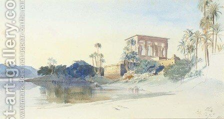 Philae, Egypt by Edward Lear - Reproduction Oil Painting