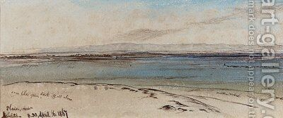 Plains of Ashdod, Israel by Edward Lear - Reproduction Oil Painting