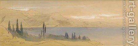Saint Hospice, on the Riviera, France by Edward Lear - Reproduction Oil Painting