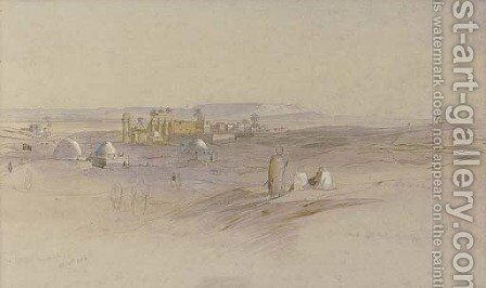 Sunrise at Erment, Egypt by Edward Lear - Reproduction Oil Painting